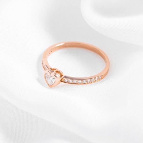 Nhẫn vàng hồng DOJI cao cấp 14K 0819R-LAL431