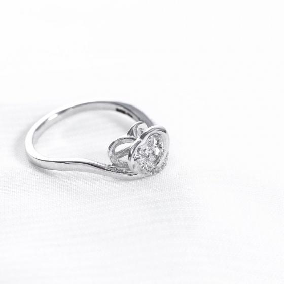 Nhẫn vàng trắng nữ cao cấp DOJI 14K 0819R-NAL623