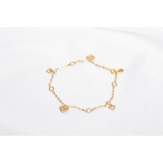 Lắc tay vàng đính đá DOJI 14K 0819B-LAL326