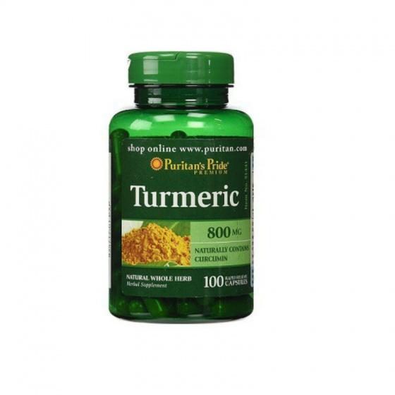 Tinh chất nghệ chống lão hóa làm đẹp da, ngừa đau dạ dày, viêm khớp Puritan's Pride - Turmeric 800mg 100 viên HSD