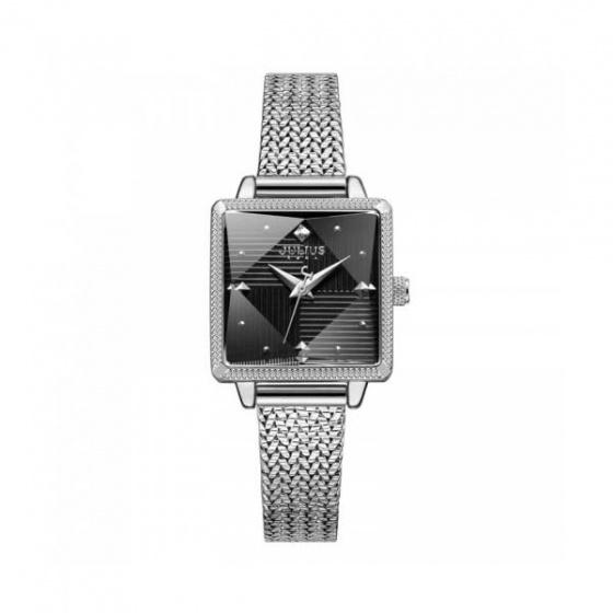 Đồng hồ nữ ja-1220a Julius hàn quốc dây thép bạc đen