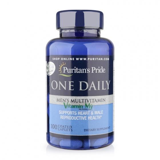 Viên uống bổ sung vitamin và khoáng chất cho nam 100 viên Puritan's Pride One Daily Men's Mutivitamin