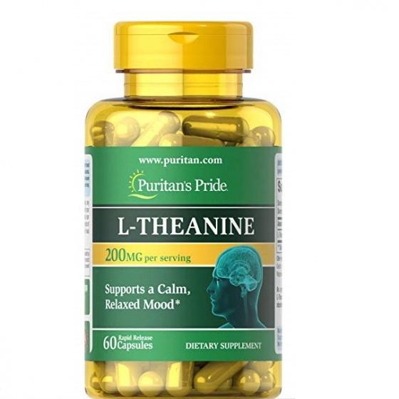 Viên uống bổ não - giảm stress Puritan's Pride L-Theanine 200mg 60 viên