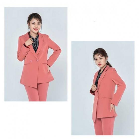 Áo vest tuýt xi màu hồng HeraDG - WT19006A