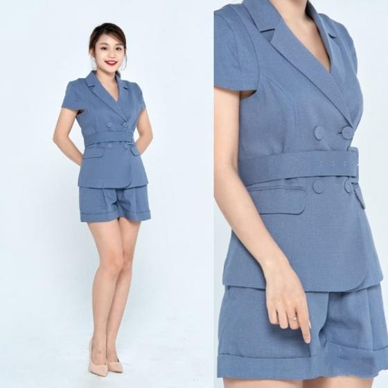 Áo tuýt xi màu xanh HeraDG - WT19013A