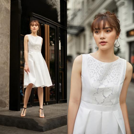 Đầm liền trắng HeraDG - SDP19070