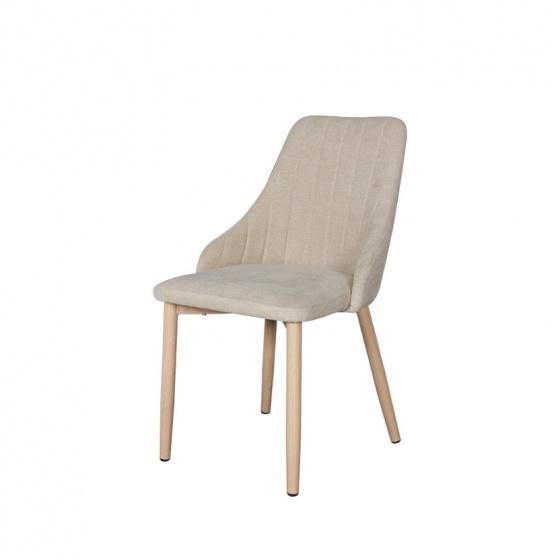 Ghế bọc vải chân kim loại giả gỗ Furnist Windy