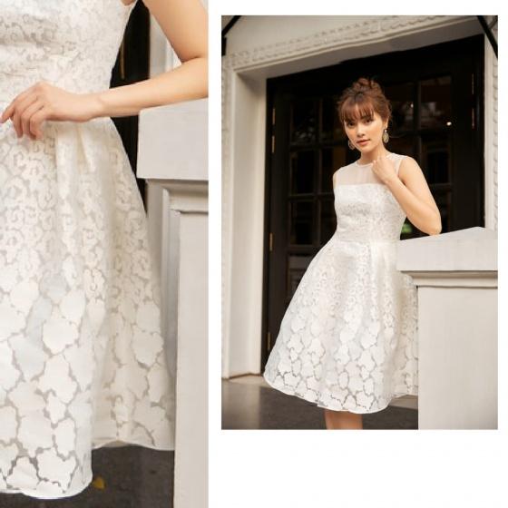 Đầm liền Tafta ren trắng HeraDG - SDP19072