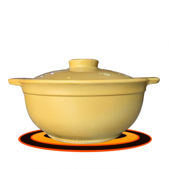 Nồi sứ kháng khuẩn nấu bếp từ 1,2 lít NodaCook (vàng)