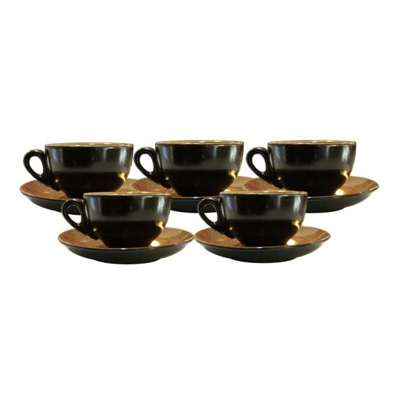 Combo 5 tách cà phê Capuccino 220ml (các màu)