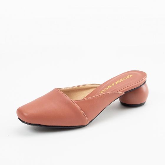Giày nữ, giày mules cao gót Erosska thời trang thanh lịch gót tròn cao 5cm - EM028 (hồng)