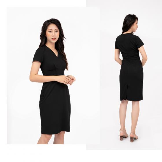 Đầm liền màu đen HeraDG - SDC19015
