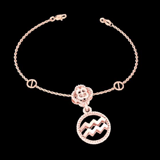 Charm cung hoàng đạo Bảo Bình vàng hồng 14K DOJI 0120P-LAL360 (không bao gồm dây)