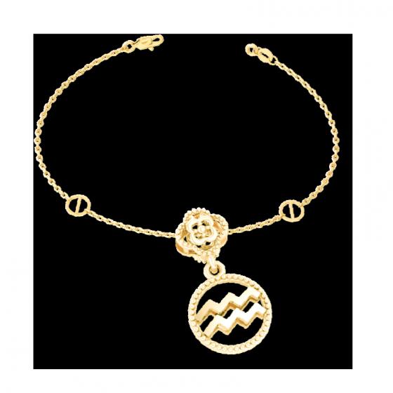 Charm cung hoàng đạo Bảo Bình vàng 14K DOJI 0120P-LAL360-YG (không bao gồm dây)