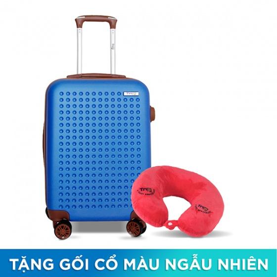 Vali Trip P803A size 50cm xanh dương (tặng 1 gối cổ màu ngẫu nhiên)