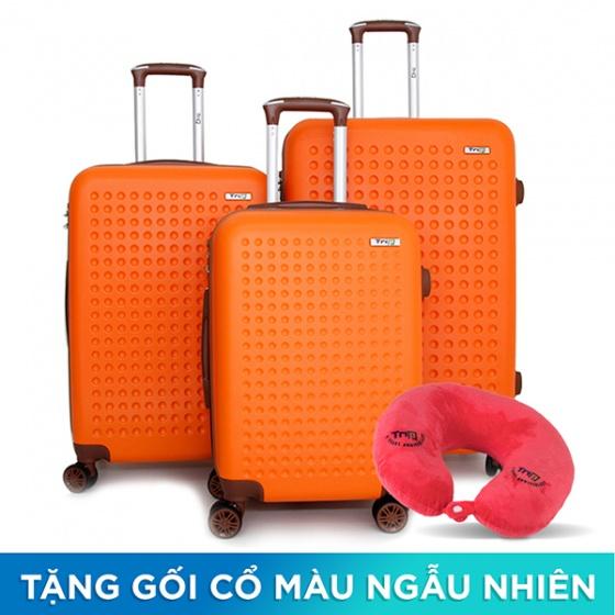 Bộ 3 vali du lịch Trip P803A size 50cm + 60cm + 70cm cam (tặng 3 gối cổ màu ngẫu nhiên)