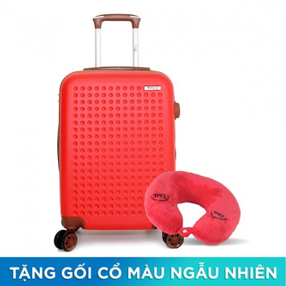 Vali Trip P803A size 60cm đỏ (tặng 1 gối cổ màu ngẫu nhiên)