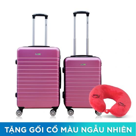 Set 2 vali chống trộm Trip PC911 size 50cm+60cm tím hồng (tặng 2 gối cổ màu ngẫu nhiên)