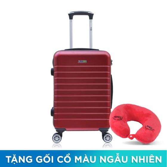 Vali chống trộm Trip PC911 size 60cm màu đỏ (tặng 1 gối cổ màu ngẫu nhiên)