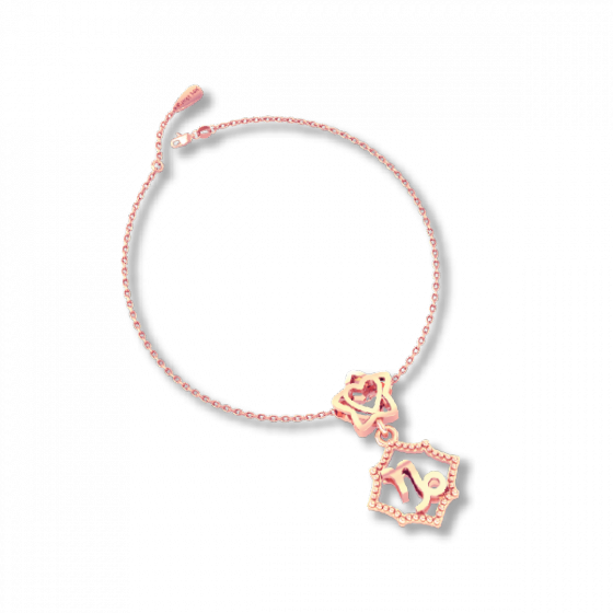 Mặt charm cung hoàng đạo Ma Kết vàng hồng 14K DOJI 0120P-LAL352-PG (Không bao gồm dây)