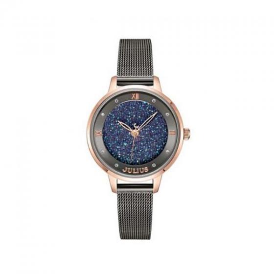 Đồng hồ nữ ja-1216c Julius Hàn Quốc dây thép (dây xám)