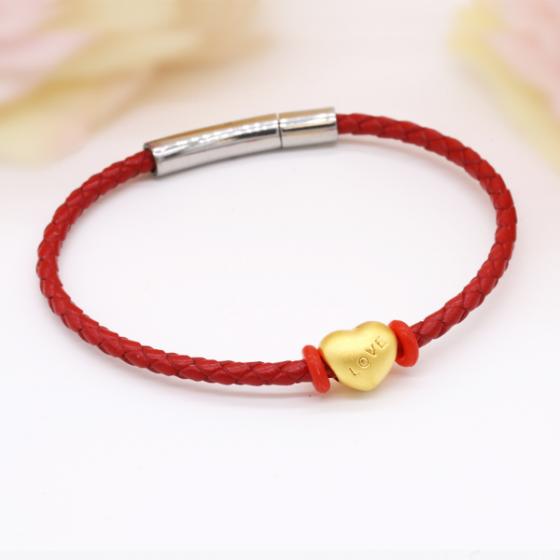 Vòng charm phong thủy trái tim vàng 24K DOJI CB60044-DDA