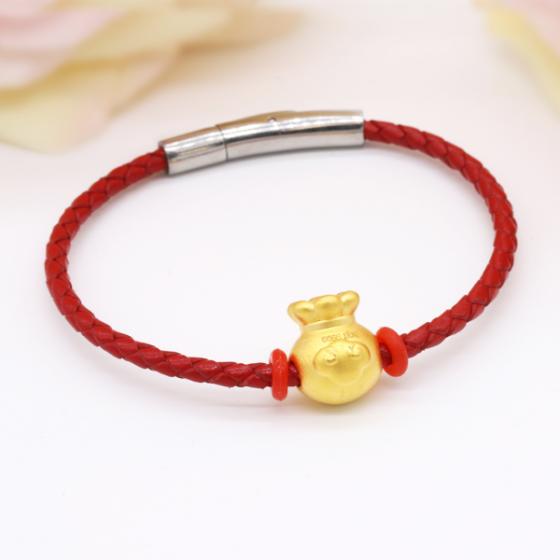Vòng charm phong thủy túi vàng 24K DOJI CB60046-DDA
