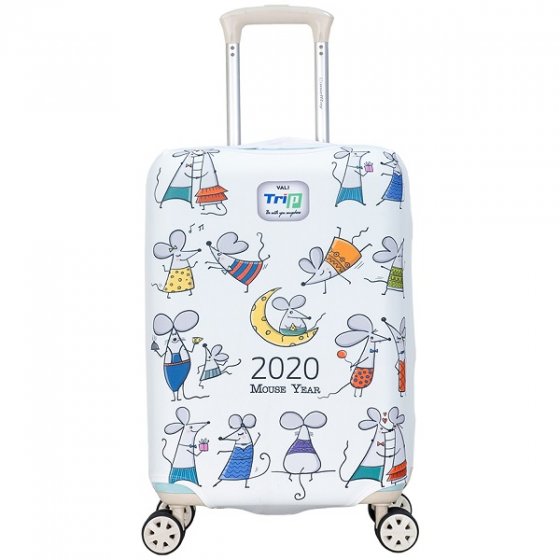 Túi bọc vali vải thun 4 chiều Trip Mouse size M