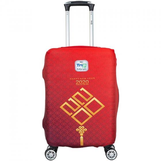 Túi bọc vali vải thun 4 chiều Trip Happy new year size S