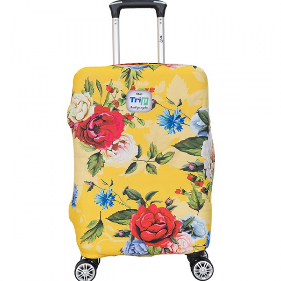 Áo trùm vali thun 4 chiều Trip Yellow spring size S