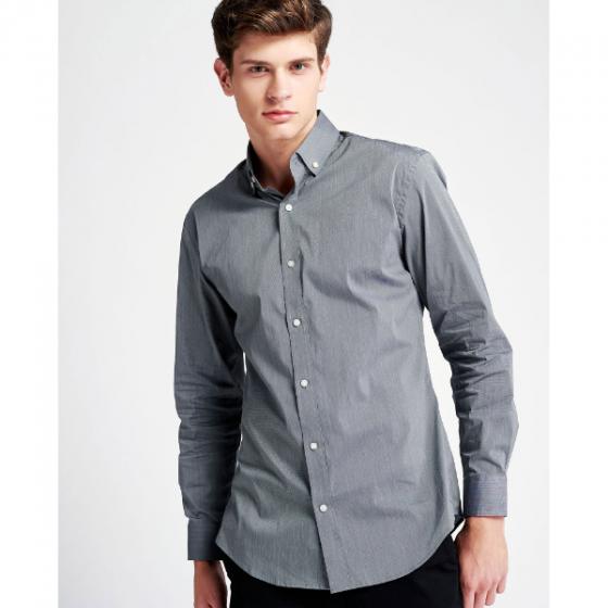 Áo sơ mi nam The Cosmo Jeffrey Shirt màu xám TC1022079R1DG