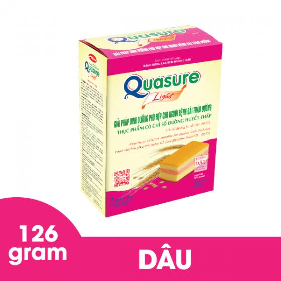 Bánh bông lan Quasure Light Dâu 126 gram Bibica