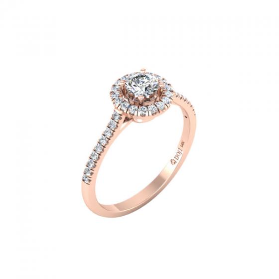 Nhẫn vàng hồng DOJI cao cấp 14K 0320R-LAL038