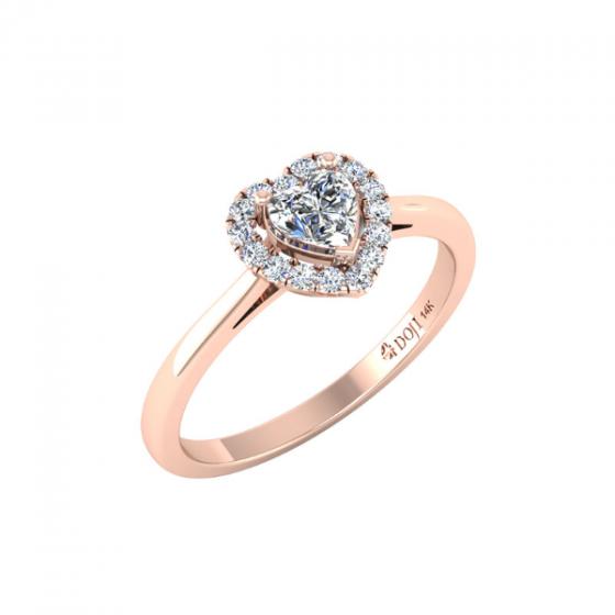 Nhẫn vàng hồng DOJI cao cấp 14K 0320R-LAL029