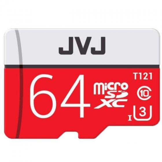 Thẻ nhớ JVJ 64G Pro U3 Class 10 dùng cho tất cả các dòng thiết bị hỗ trợ thẻ nhớ micro, camera giám sát