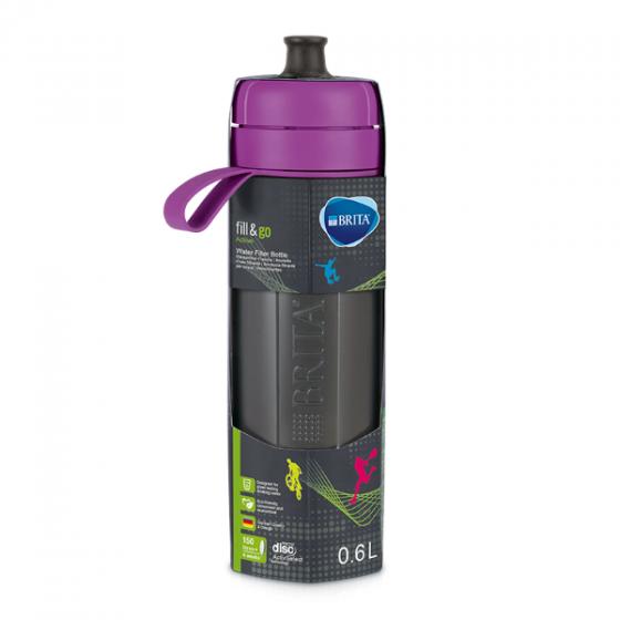Bình lọc nước Brita Active Purple - 600ml (kèm Microdisc)
