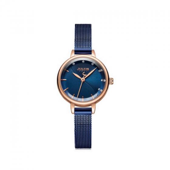 Đồng hồ nữ julius ja-1241b dây thép xanh