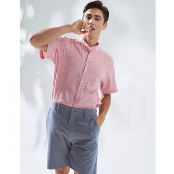 Áo sơ mi nam The Cosmo Humphrey Shirt màu hồng TC1022087RE