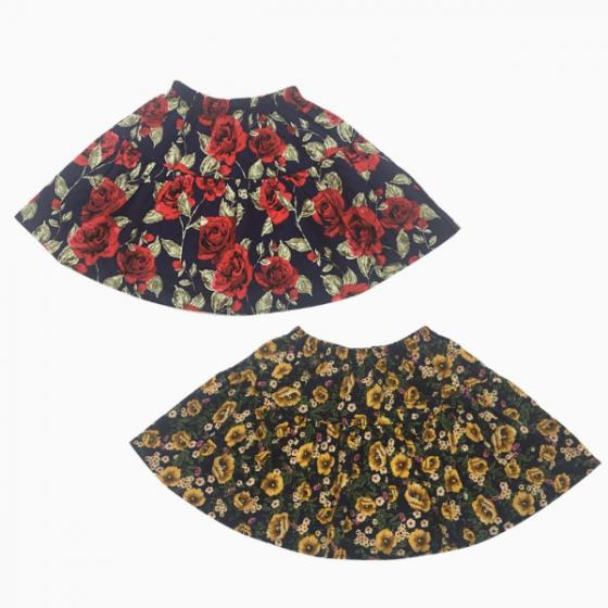 Chân váy bé gái Vinakids hình hoa kèm quần (2-8 tuổi)