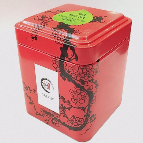 Trà Việt - hộp thiếc trà bạc hà - trà thảo mộc,trà detox,trà giảm cân