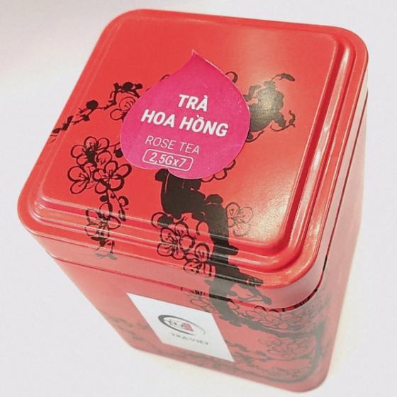 Trà Việt - hộp thiếc trà hoa hồng,trà thảo mộc,giúp detox cơ thể,thư giãn,giảm cân,giảm street,đẹp da