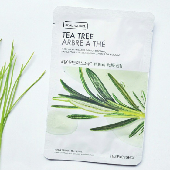 Mặt nạ thanh lọc da The Face Shop real nature tea tree face mask 20ml