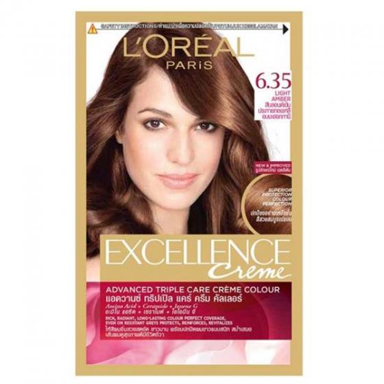 Kem nhuộm dưỡng tóc phủ bạc Loreal Excellence Cream 172ml  màu 6.35 nâu socola