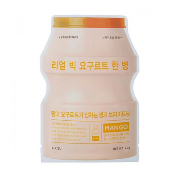 Mặt nạ sữa chua Apieu real big yogurt onebottle  mango 21ml
