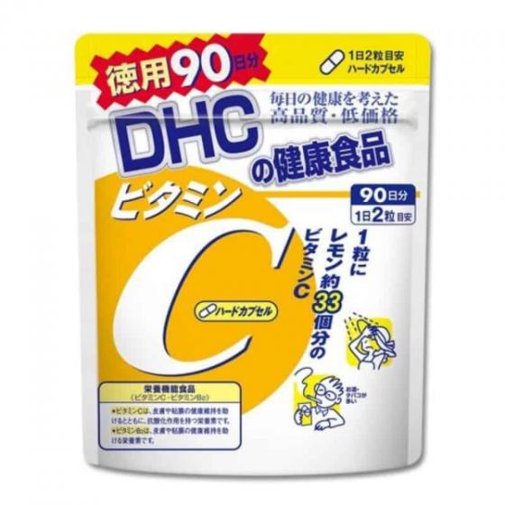 Viên uống bổ sung vitamin C DHC Hard Capsule (90 ngày x 180 viên)