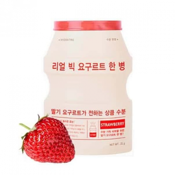 Mặt nạ sữa chua Apieu Real Big Yogurt Onebottle Strawberry 21ml