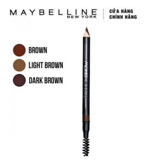 Chì tạo dáng mày 2 trong 1 nâu sáng Maybelline Fashion Brow Cream Brush Light Brown 1.5g