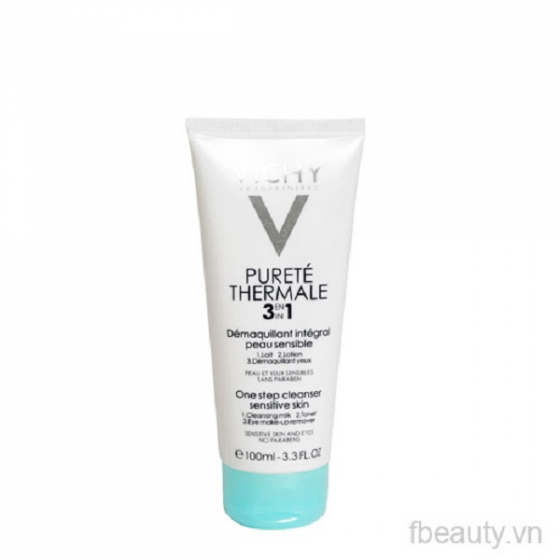 Sữa rửa mặt tẩy trang 3 tác dụng Vichy Purete Thermale One Step Cleanser 3 In 1 100ml
