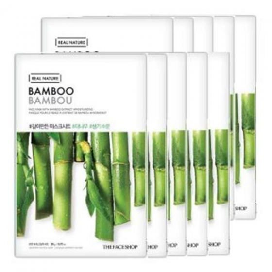 Mặt nạ cung cấp nước The Face Shop Real Nature Mask Sheet Bamboo 20ml