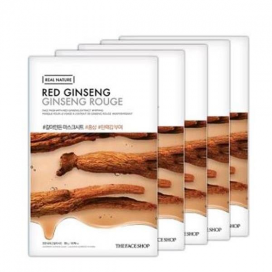 Mặt nạ hồng sâm dưỡng ẩm và làm dịu da The Face Shop Real Nature Red Ginseng 20ml